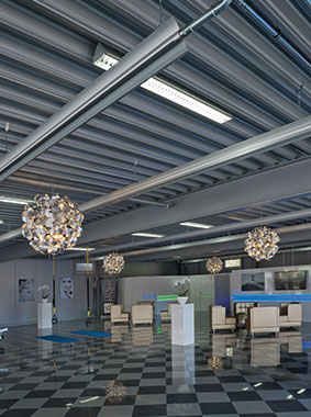 Arbonia radiant ceiling profiles in use (fitness centre)
