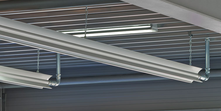 Arbonia radiant ceiling profiles in use - detailed view