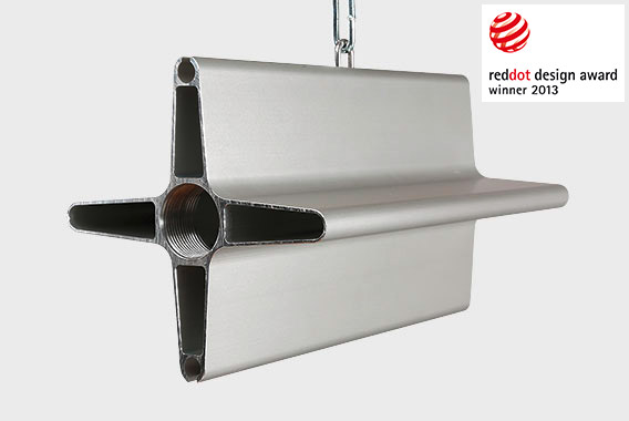 Arbonia radiant ceiling profiles (model DESA) - merge of design and function