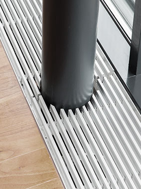 Arbonia Ascotherm eco trench-convectors - detail - column section