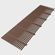 Arbonia Ascotherm eco trench convectors - linear grille bronze