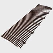 Arbonia Ascotherm eco trench convectors - linear grille dark silver