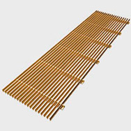 Arbonia Ascotherm eco trench convectors - linear grille brass