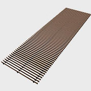 Arbonia Ascotherm eco trench convectors - roll-up grille bronze