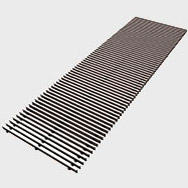 Arbonia Ascotherm eco trench convectors - roll-up grille dark silver
