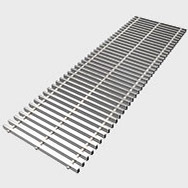 Arbonia Ascotherm eco trench convectors - roll-up grille stainless steel