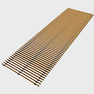 Arbonia Ascotherm eco trench convectors - roll-up grille brass