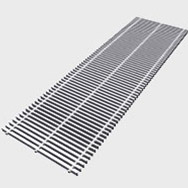 Arbonia Ascotherm eco trench convectors - roll-up grille natural colour