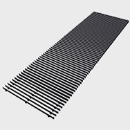 Arbonia Ascotherm eco trench convectors - roll-up grille black