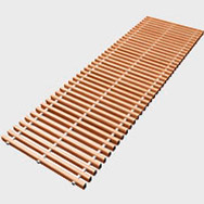 Arbonia Ascotherm eco trench convectors - roll-up grille wood (beech)